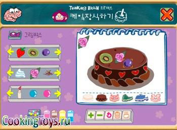 Для девочек готовим еду торты онлайн