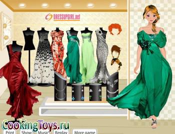 Игры одевалки вечерние платье